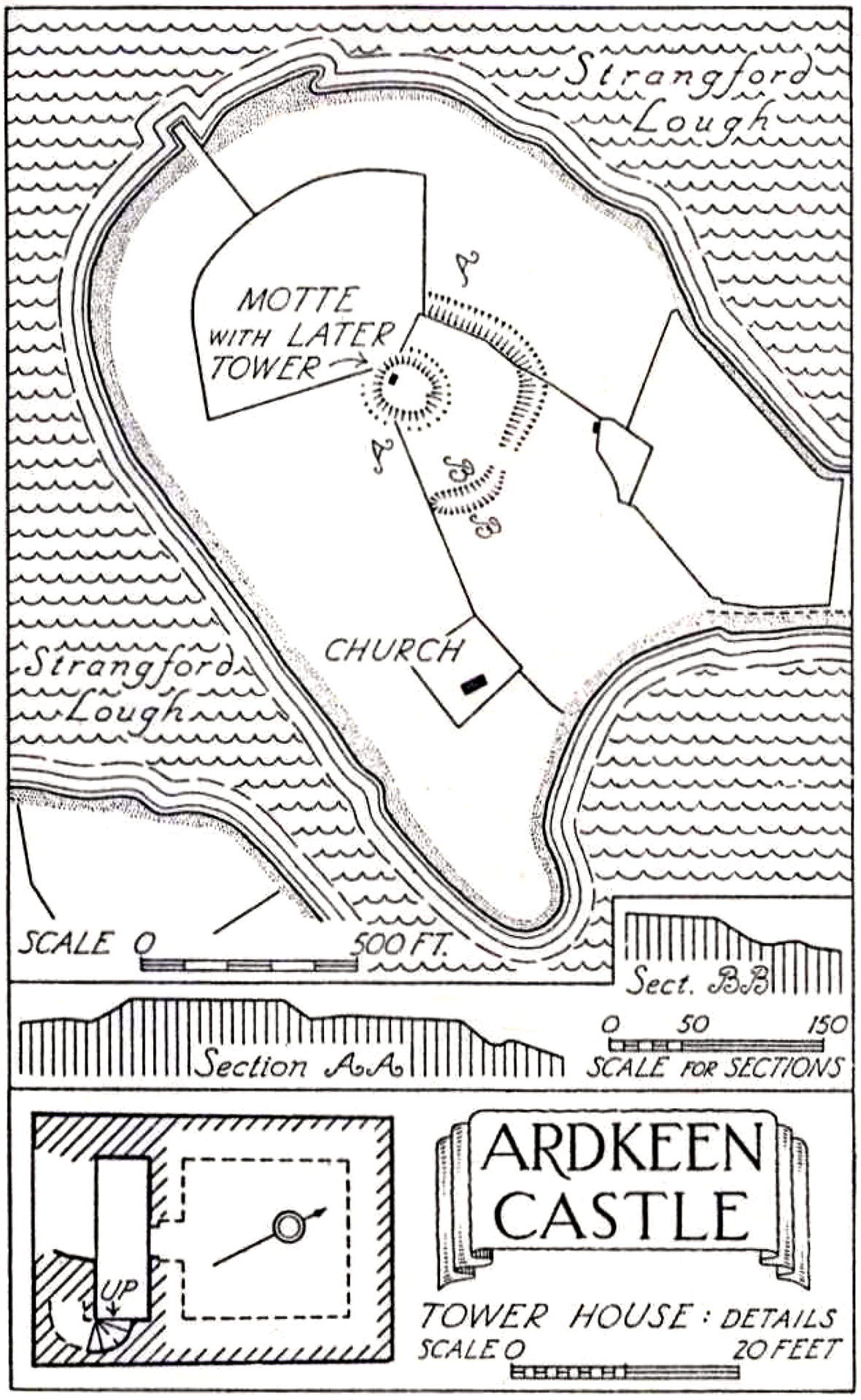 Ardkeeen (Castle Hill) Plan, Strangford, County Down
