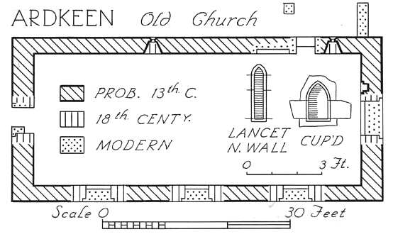Ardkeen Church Plan, Strangford, County Down